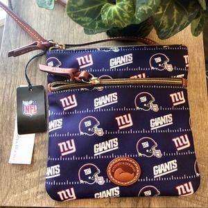 Dooney & Bourke NFL Giants Double Zip Crossbody